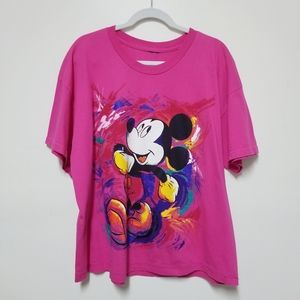 Mickey Unlimited Pink Women's Tshirt Plus Size 1X